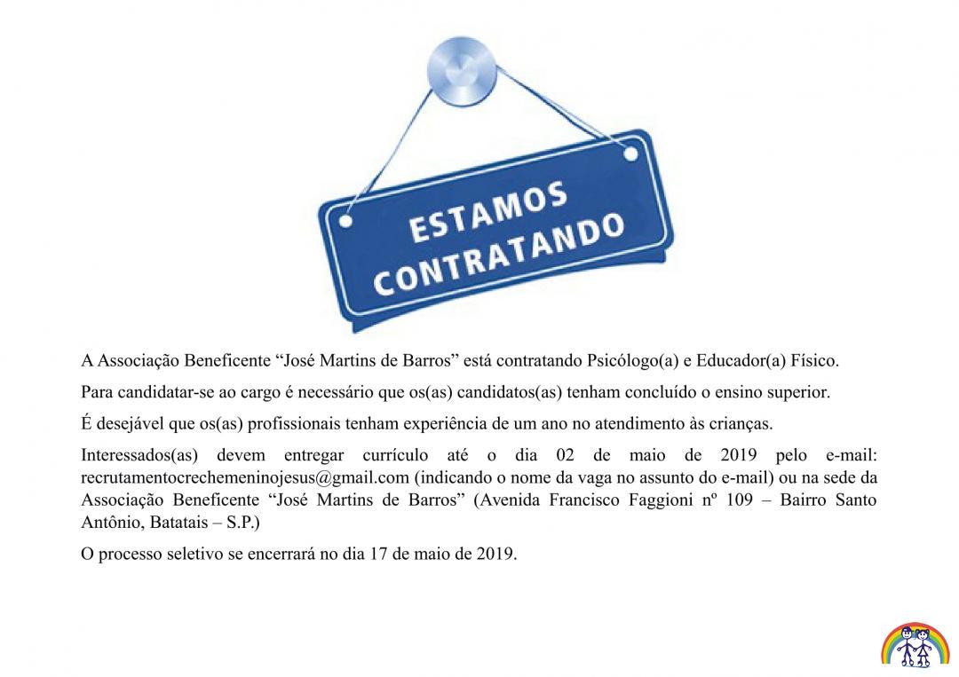 PROCESSO SELETIVO 001/2019 - ENCERRADO