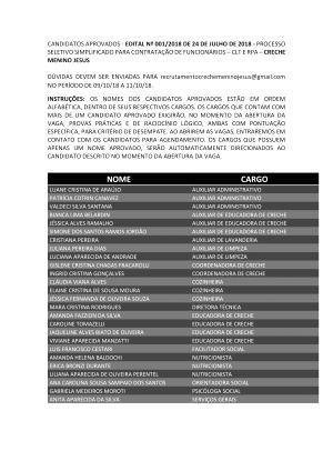 Processo Seletivo 001/2018 - ENCERRADO